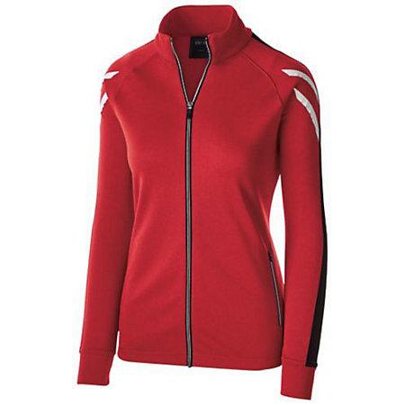 Ladies Flux Jacket Scarlet Heather/black/white Softball