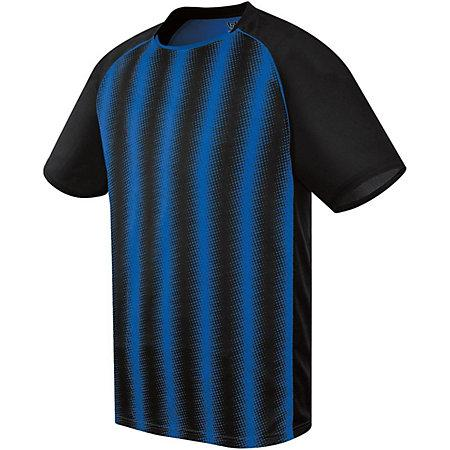 Youth Prism Soccer Jersey Black/royal Single & Shorts
