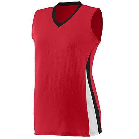 Ladies Tornado Jersey Red/black/white Softball