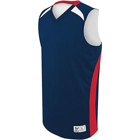 Youth Campus Reversible Jersey Navy/scarlet/white Basketball Single & Shorts