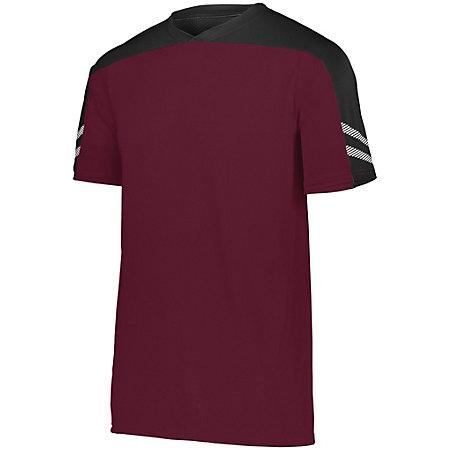 Youth Afield Soccer Jersey Maroon/black/white Single & Shorts