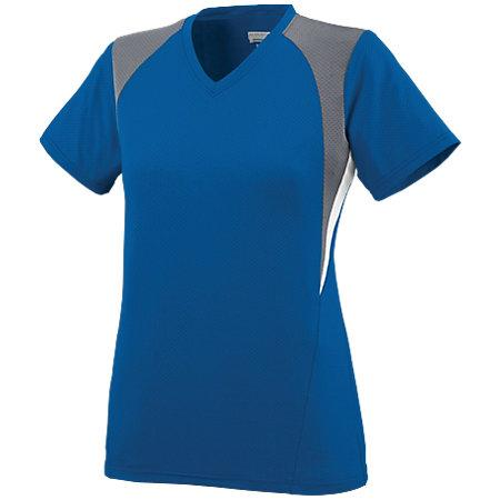 Ladies Mystic Jersey Royal/graphite/white Softball