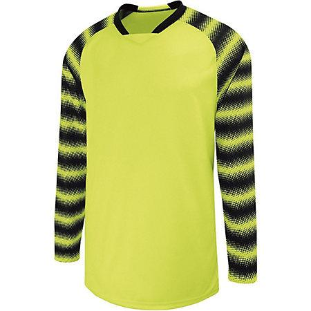 Youth Prism Goalkeeper Jersey Lime/black Single Soccer & Shorts