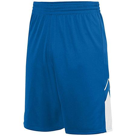 Youth Alley-Oop Reversible Shorts Royal/white Basketball Single Jersey &