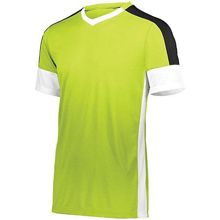 Youth Wembley Soccer Jersey Lime/white/black Single & Shorts
