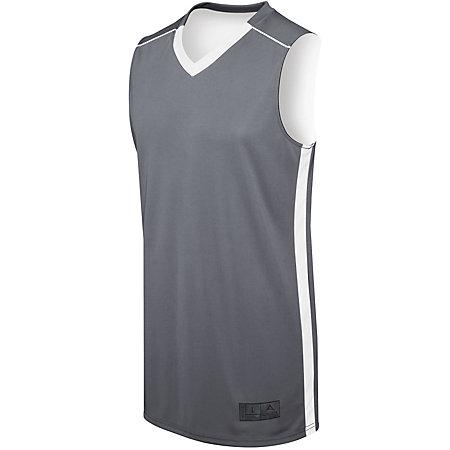 Adult Competition Reversible Jersey Graphite/white Basketball Single & Shorts