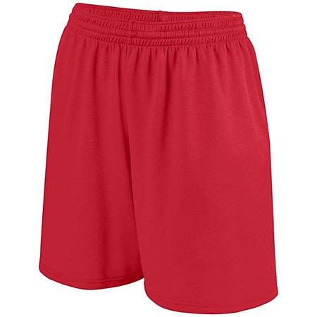 Girls Shortwave Shorts Red/white Softball