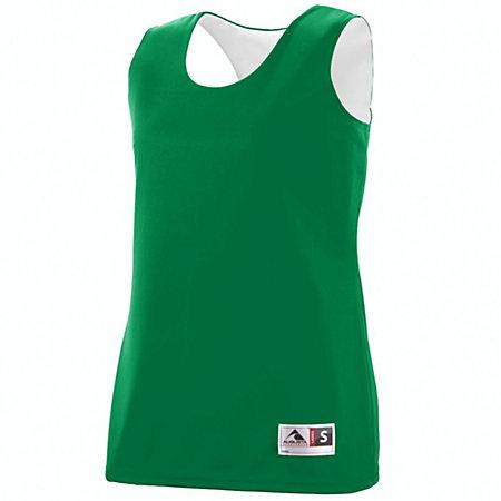Ladies Reversible Wicking Tank Kelly/white Basketball Single Jersey & Shorts