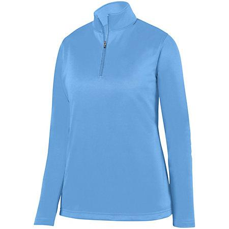 Ladies Wicking Fleece Pullover Columbia Blue Softball