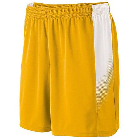 Youth Ionic Shorts Athletic Gold/white Single Soccer Jersey &