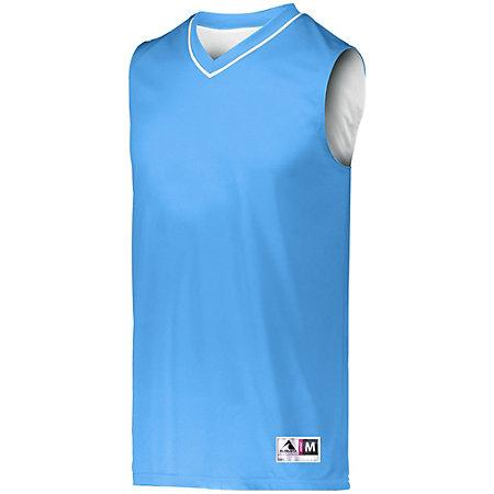 Reversible Two Color Jersey Columbia Blue/white Adult Basketball Single & Shorts