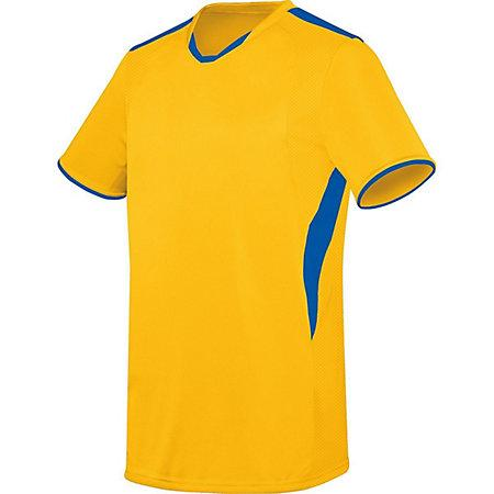 Youth Globe Jersey Athletic Gold/royal Youth Single Soccer & Shorts