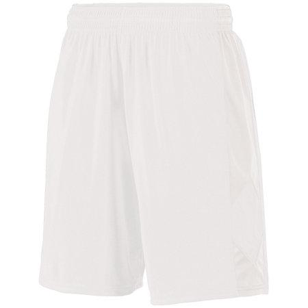 Youth Block Out Shorts White/white Basketball Single Jersey &