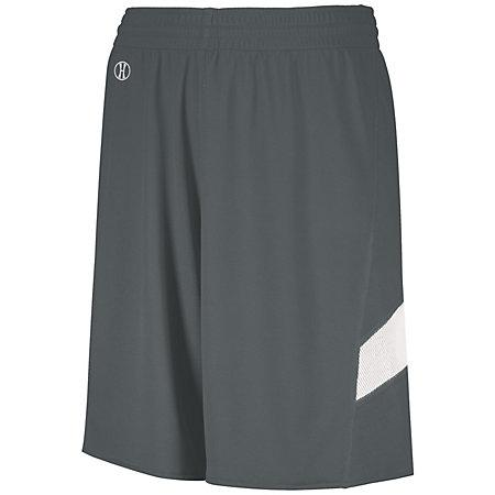 Youth Dual-Side Single Ply Basketball Shorts Graphite/white Jersey &