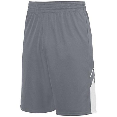 Youth Alley-Oop Reversible Shorts Graphite/white Basketball Single Jersey &