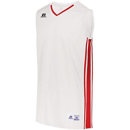 Legacy Basketball Jersey White/true Red Adult Single & Shorts