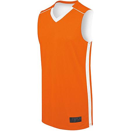 Ladies Competition Reversible Jersey Orange/white Basketball Single & Shorts