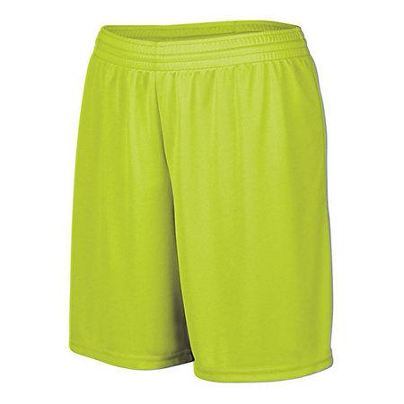 Girls Octane Shorts Lime Softball