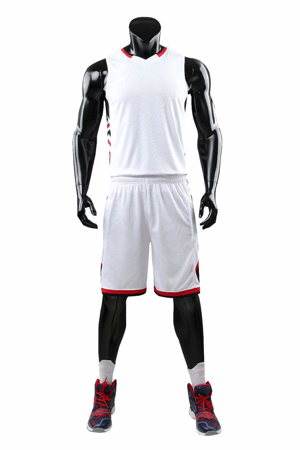 White B-108 Baskeball Uniforms