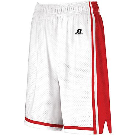 Ladies Legacy Basketball Shorts White/true Red Single Jersey &