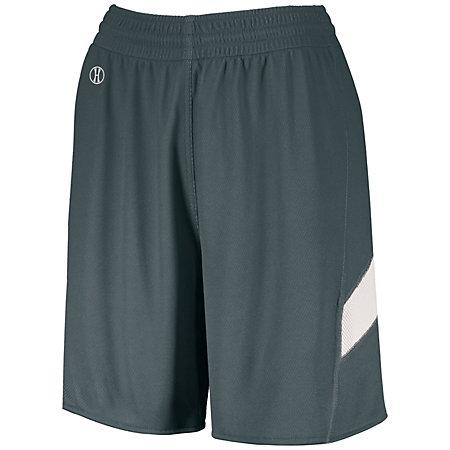 Ladies Dual-Side Single Ply Shorts Graphite/white Basketball Jersey &