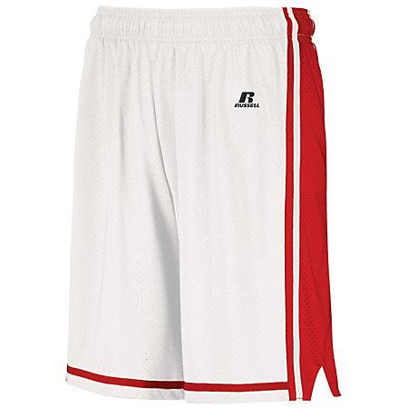 Legacy Basketball Shorts White/true Red Adult Single Jersey &