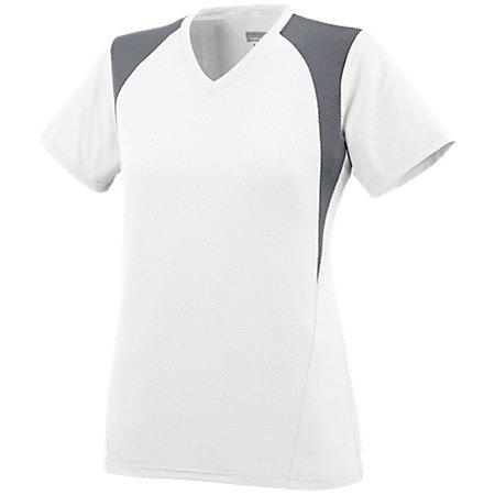 Ladies Mystic Jersey White/graphite/white Softball
