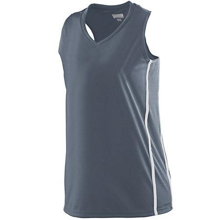 Ladies Winning Streak Racerback Jersey Graphite/white Basketball Single & Shorts