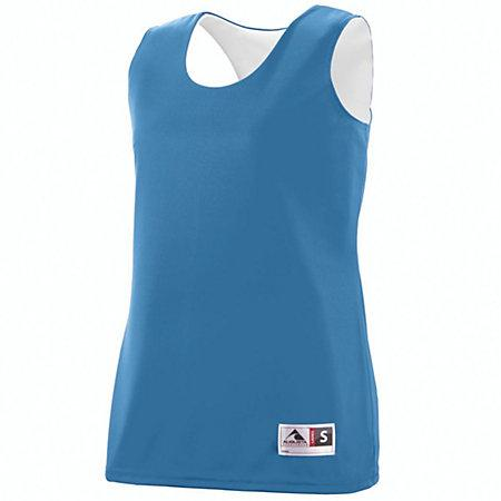 Ladies Reversible Wicking Tank Columbia Blue/white Basketball Single Jersey & Shorts