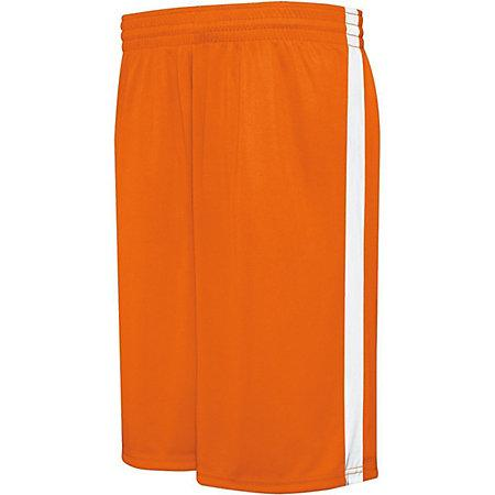 Competition Reversible Shorts Orange/white Adult Basketball Single Jersey &