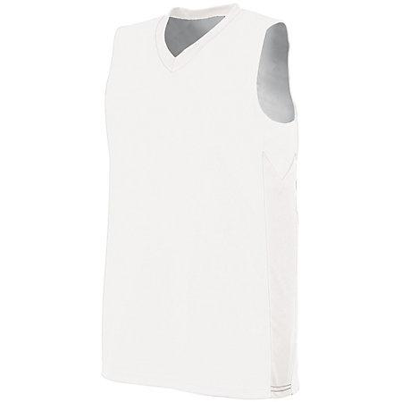 Ladies Block Out Jersey White/white Basketball Single & Shorts