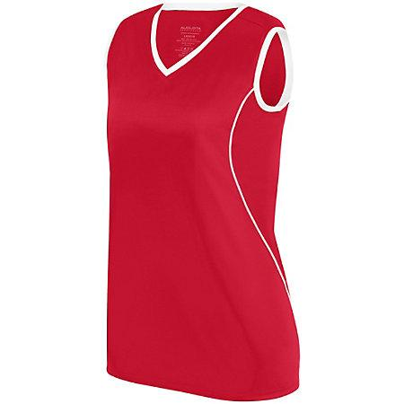 Ladies Firebolt Jersey Red/white Softball