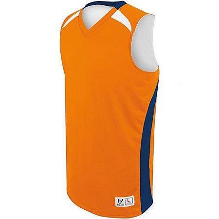 Youth Campus Reversible Jersey Orange/navy/white Basketball Single & Shorts