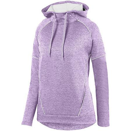 Señoras Zoe Tonal Heather Hoodie Light Lavender / white Basketball Single Jersey & Shorts