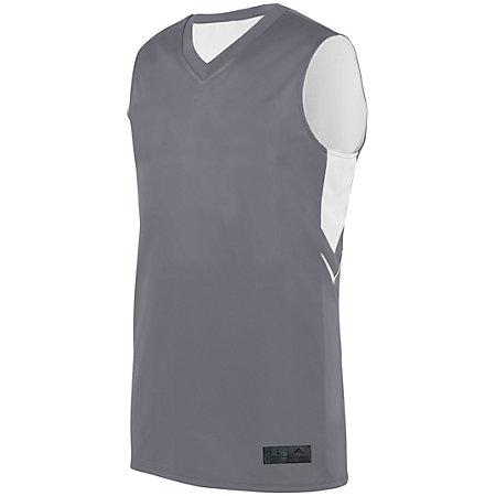 Alley-Oop Jersey reversible Graphite / white Adult Baloncesto Single & Shorts