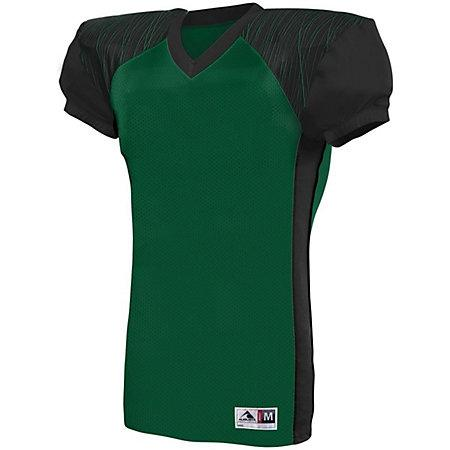 Youth Zone Play Jersey Dark Green/black/dark Green Print Football