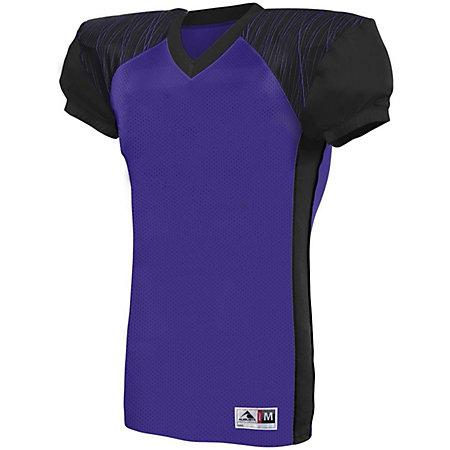 Youth Zone Play Jersey Purple/black/purple Print Football