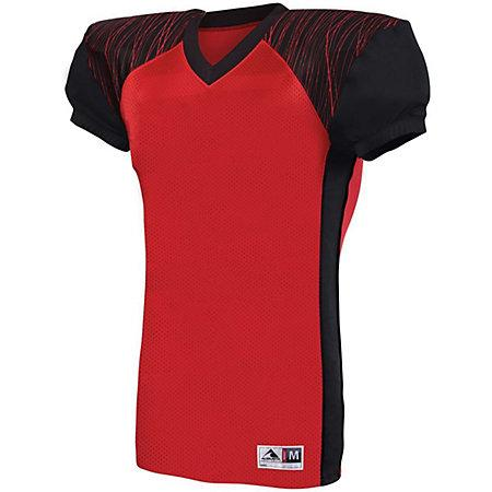 Youth Zone Play Jersey Red/black/red Print Football