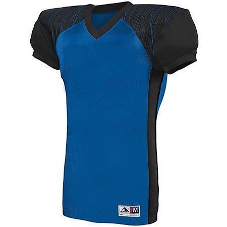 Youth Zone Play Jersey Royal/black/royal Print Football