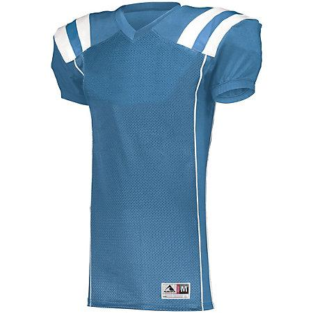 Youth Tform Football Jersey Columbia Blue/white