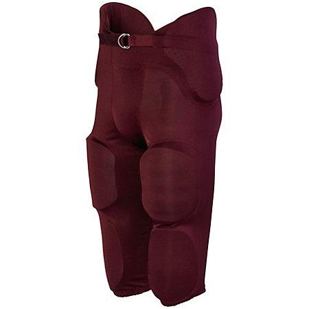 Phantom Integrated Pant Maroon Adult Football