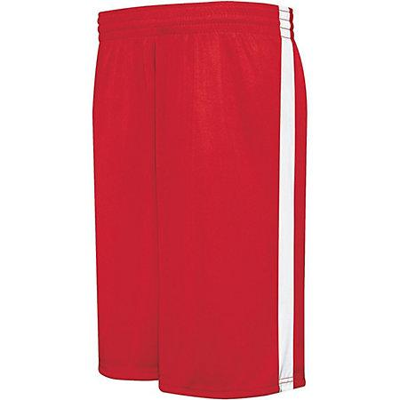 Youth Competition Reversible Shorts Scarlet/white Basketball Single Jersey &