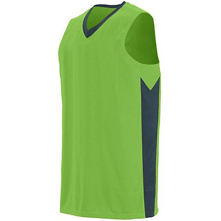 Youth Block Out Jersey Lime/slate Basketball Single & Shorts