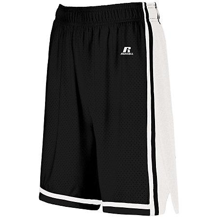 Ladies Legacy Basketball Shorts Black/white Single Jersey &