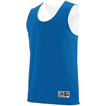 Youth Reversible Wicking Tank Royal/white Basketball Single Jersey & Shorts