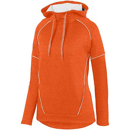 Ladies Zoe Tonal Heather Hoodie Orange/white Basketball Single Jersey & Shorts