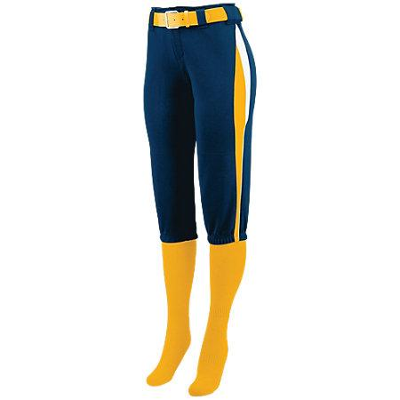 Ladies Comet Pant Navy/gold/white