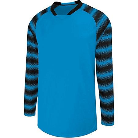 Youth Prism Goalkeeper Jersey Power Blue/black Single Soccer & Shorts