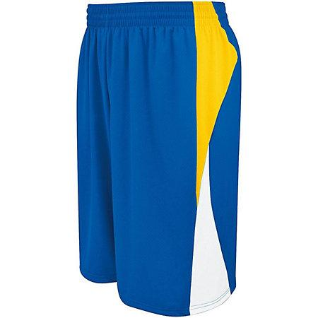 Campus Reversible Shorts Purple/athletic Gold/white Adult Basketball Single Jersey &