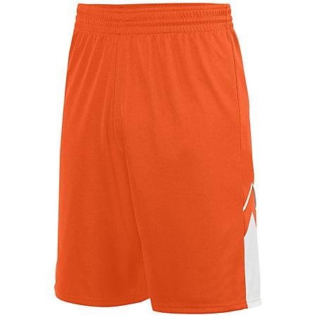Alley-Oop Shorts reversibles Jersey de baloncesto adulto naranja / blanco Single &